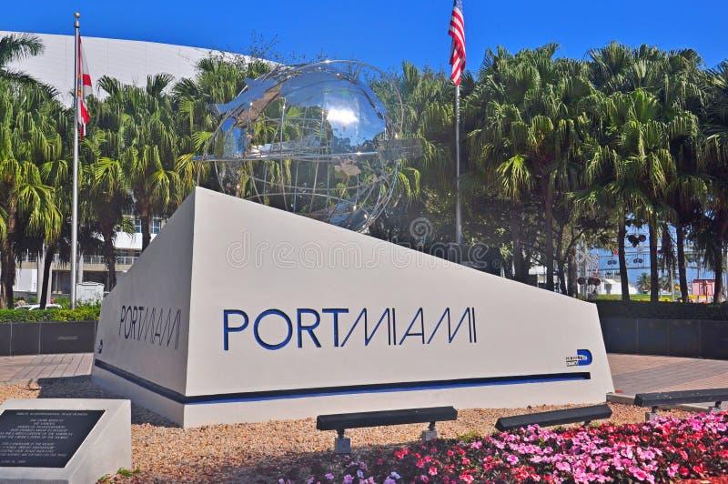 迈阿密纪念碑口岸  免版税库存照片