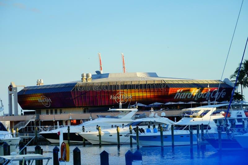 迈阿密街市体育场和港口 图库摄影