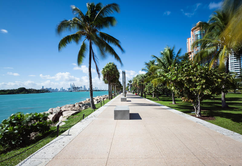 迈阿密走道 图库摄影