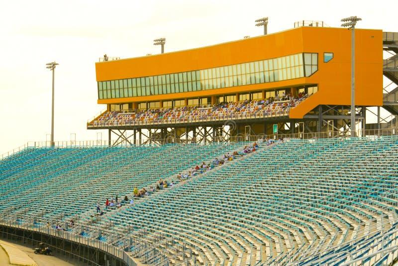 宅基迈阿密赛车场正面看台 免版税图库摄影