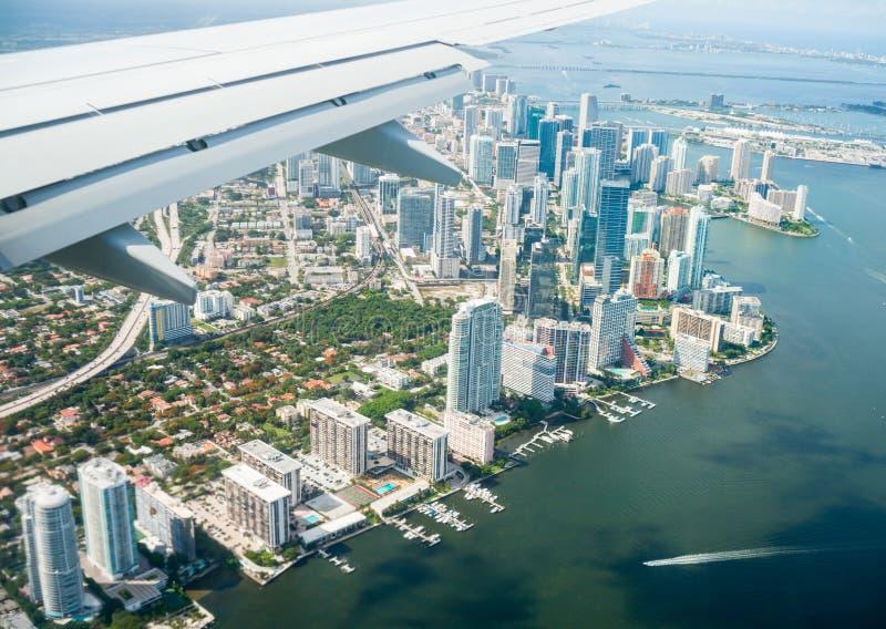 迈阿密鸟瞰图  库存图片
