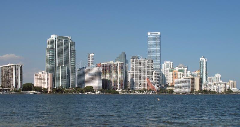 迈阿密,佛罗里达地平线 免版税库存图片