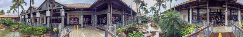 迈阿密, FL - 2016年2月:秋天购物中心的全景 Thi 免版税图库摄影