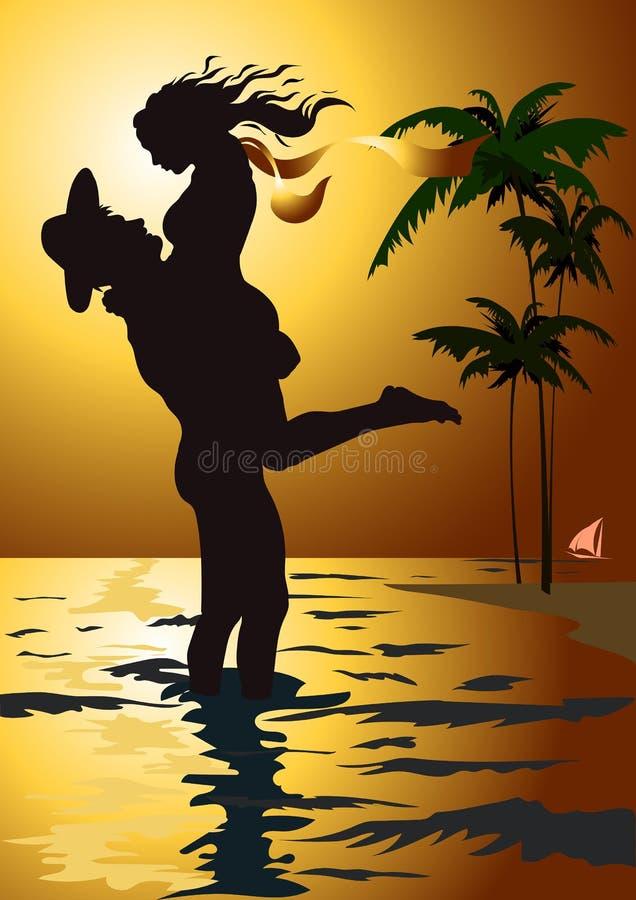 迈阿密 男人和妇女 免版税库存图片