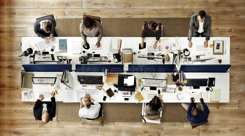 运作公司队概念的商人办公室 免版税库存照片