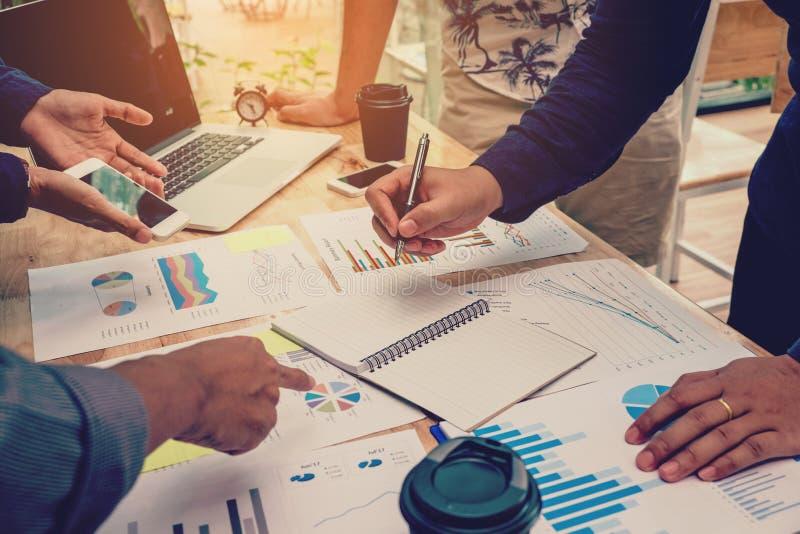 运作新的企业proj的配合起始的企业队会议 免版税图库摄影