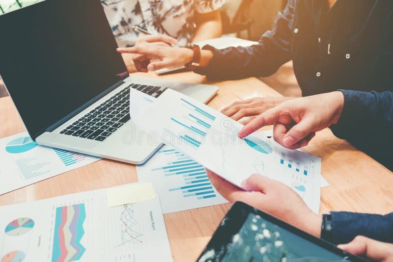 运作新的企业proj的配合起始的企业队会议 免版税库存图片