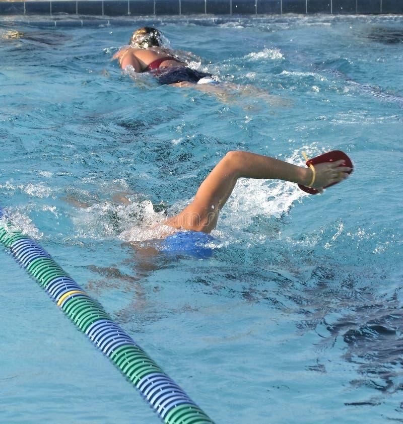 运作游泳 库存照片