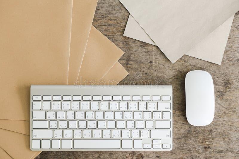 运作的桌面概念想法 免版税库存照片