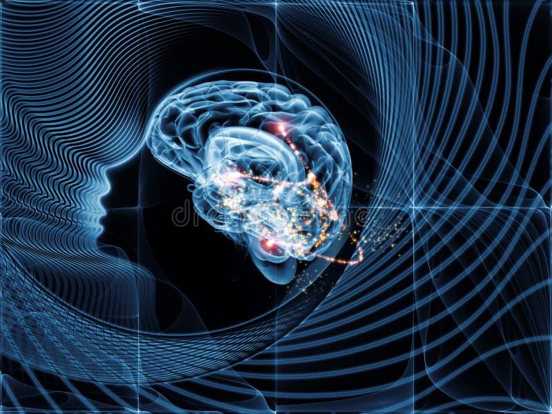 运作的头脑 向量例证