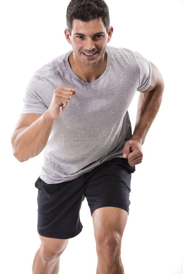 运动人赛跑 免版税库存照片