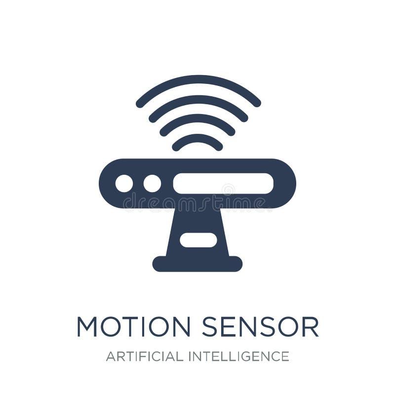 运动传感器象 在whi的时髦平的传染媒介运动传感器象 向量例证