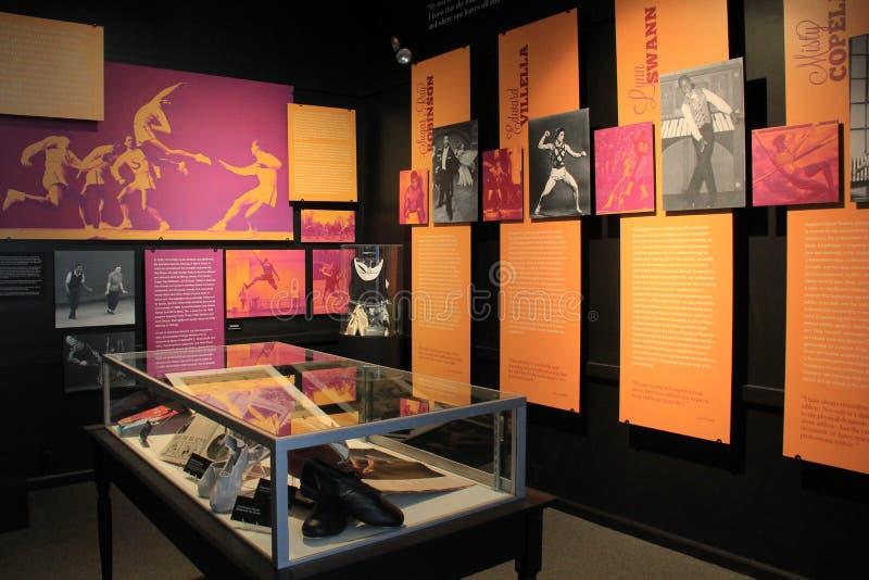 运动员和他们怎么与舞蹈关连,国家博物馆舞蹈, S大展览  库存图片