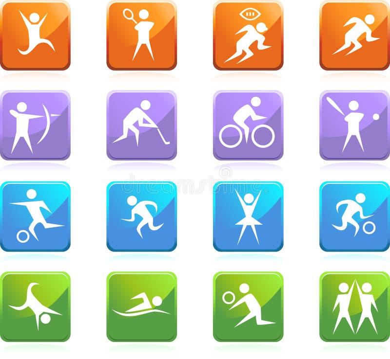 运动员图标 库存例证