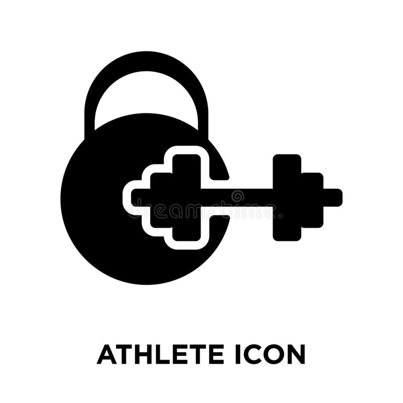 运动员在白色背景隔绝的象传染媒介,商标概念o 库存例证