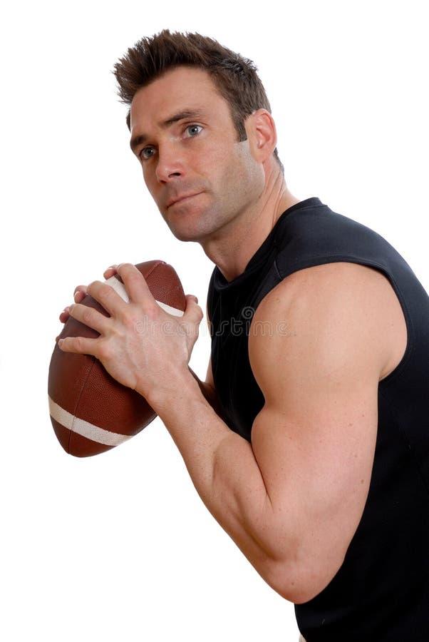 运动员橄榄球 免版税库存照片