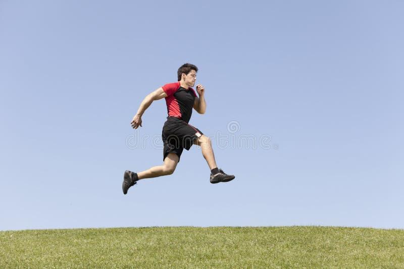 运动员男性赛跑 图库摄影