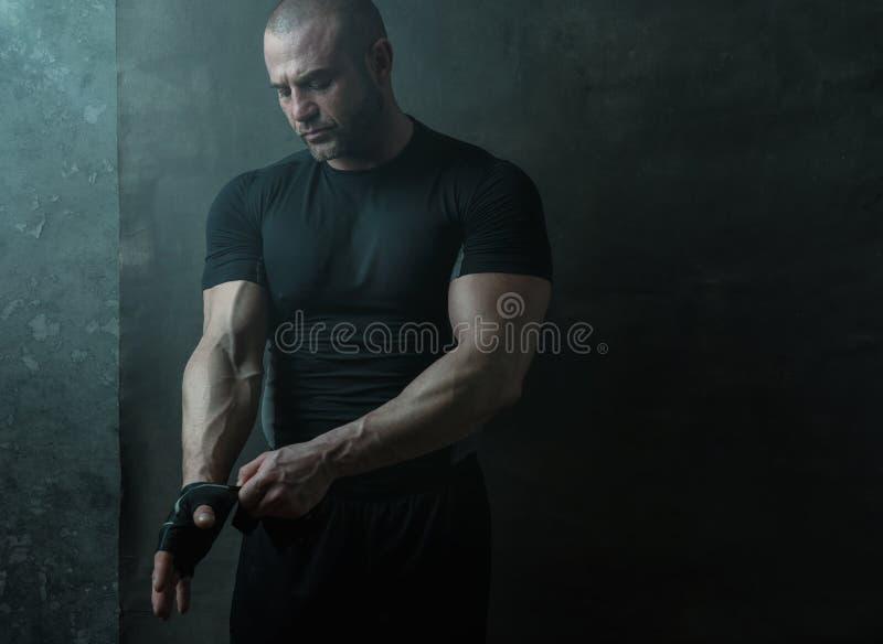 运动员的画象为锻炼做准备 免版税库存照片