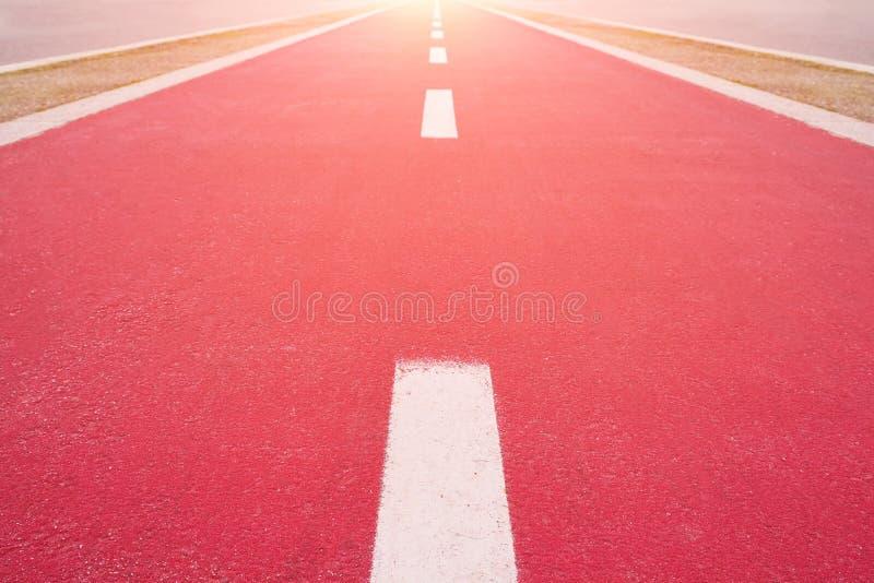 运动员的红色踏车 免版税库存照片