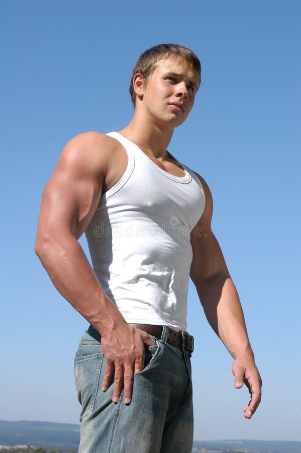 运动员肌肉年轻人 库存图片