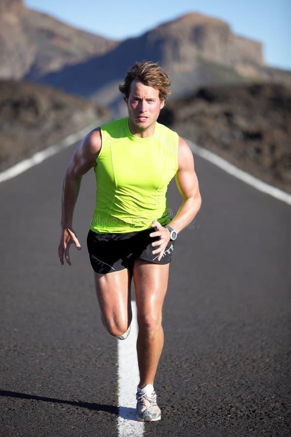 运动员赛跑者连续体育运动 免版税库存照片