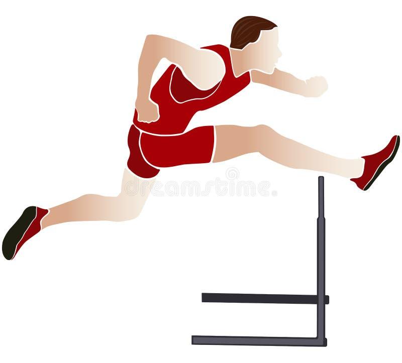 运动员赛跑者障碍 库存例证