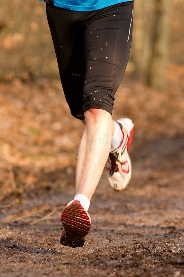 运动员运行中 免版税图库摄影