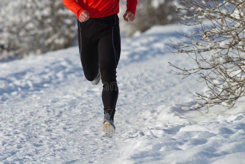 运动员连续雪 免版税库存图片
