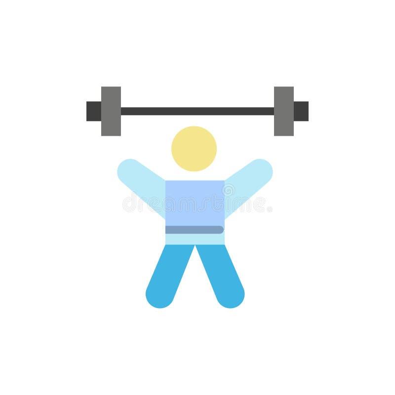 运动员,竞技,具体化,健身,健身房平的颜色象 传染媒介象横幅模板 库存例证