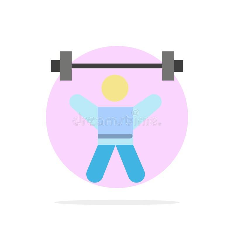 运动员,竞技,具体化,健身,健身房摘要圈子背景平的颜色象 向量例证