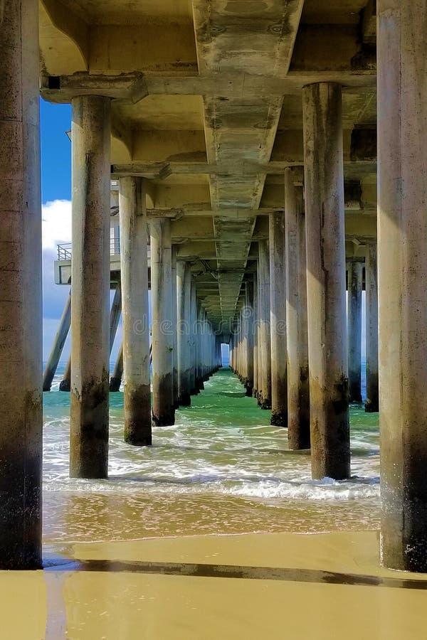 运动和固定,海洋和码头 图库摄影
