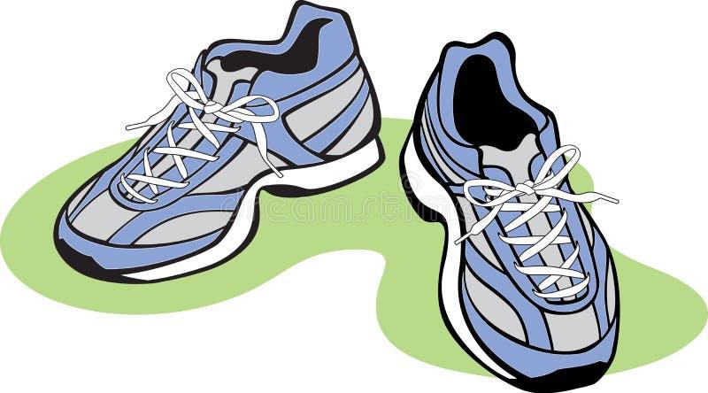 运动对鞋子 库存例证