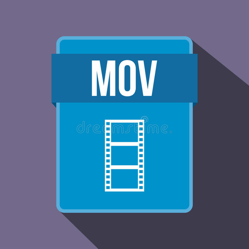运动文件象,平的样式 向量例证