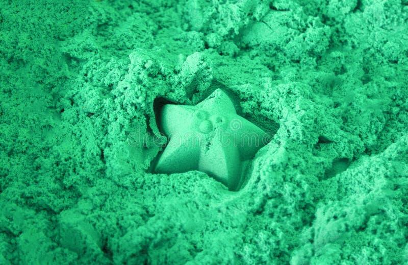 运动沙子蓝色颜色 图库摄影
