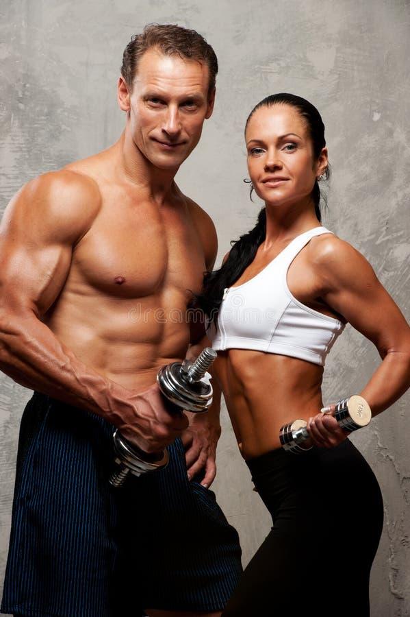 运动的加上健身设备 免版税库存图片