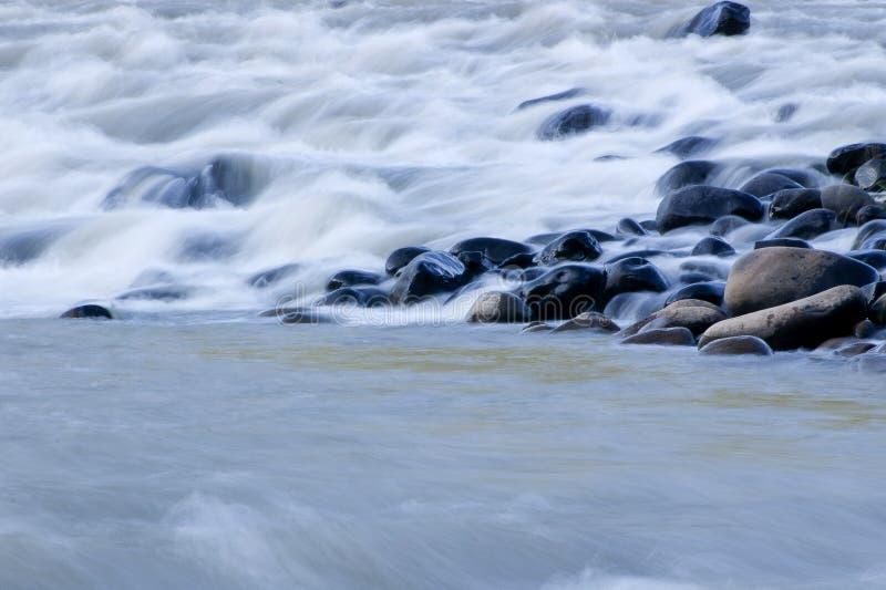 运动的水,慢动作, 免版税图库摄影