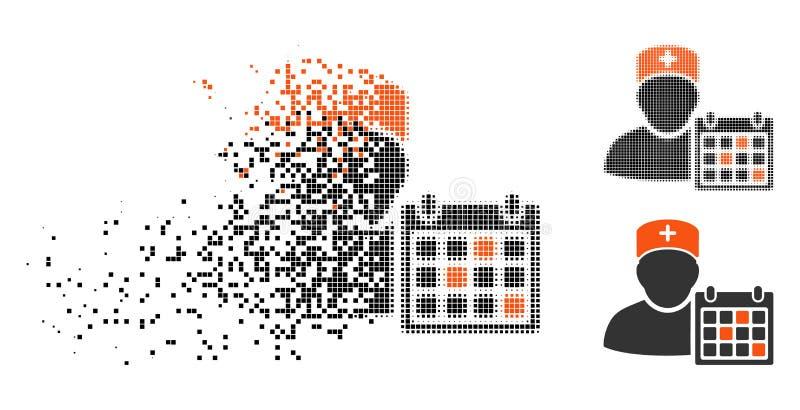 运动的Pixelated半音医生Calendar Icon 皇族释放例证