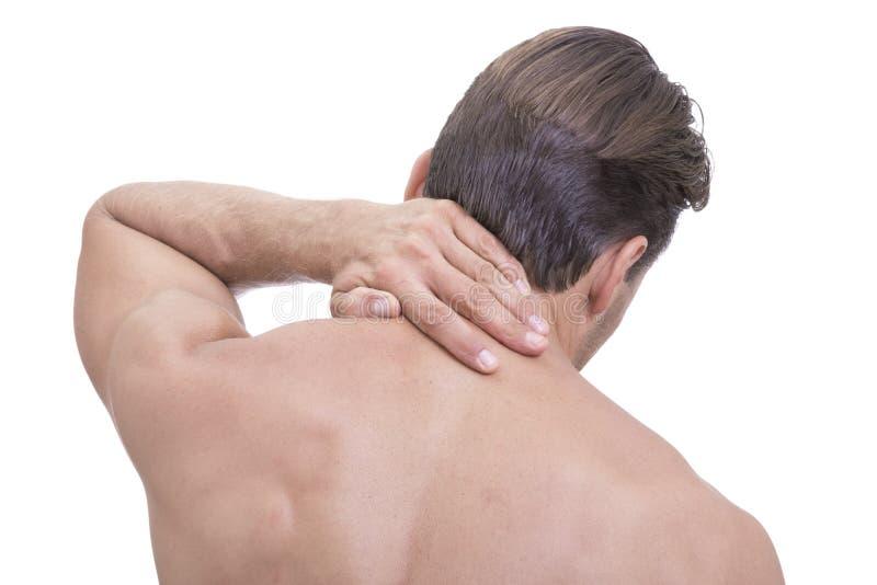 运动脖子痛 库存图片