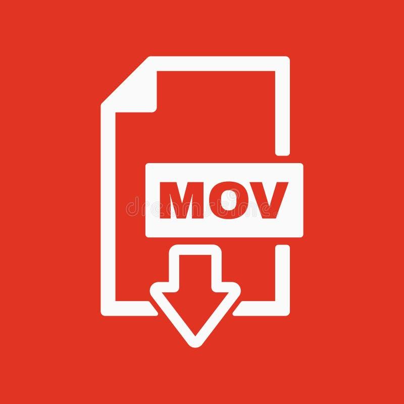 运动象 视频文件格式标志 平面 皇族释放例证