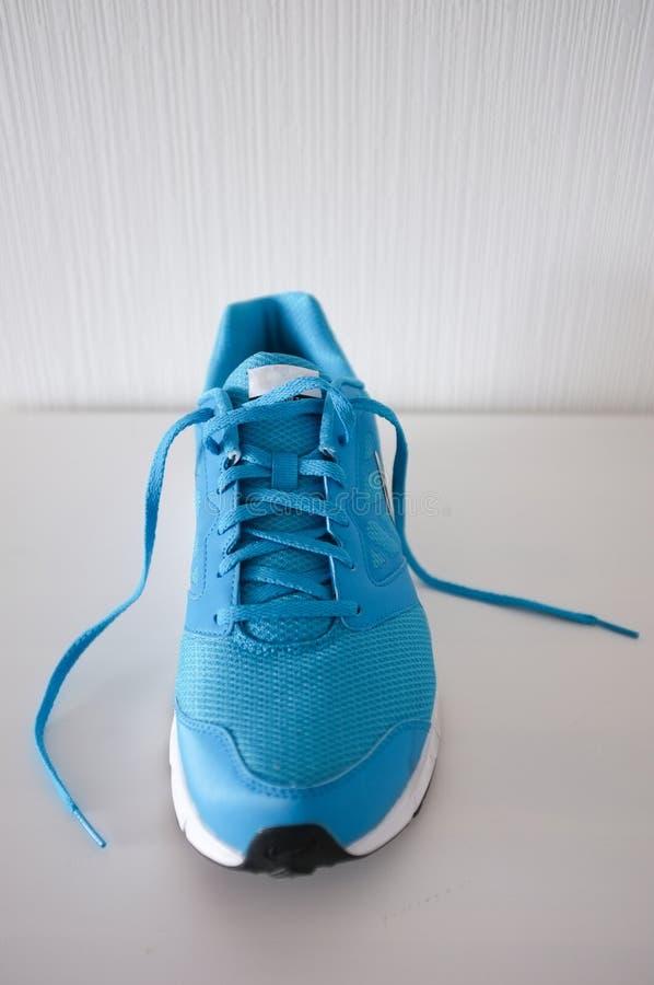 运动鞋或教练员在白色 库存图片