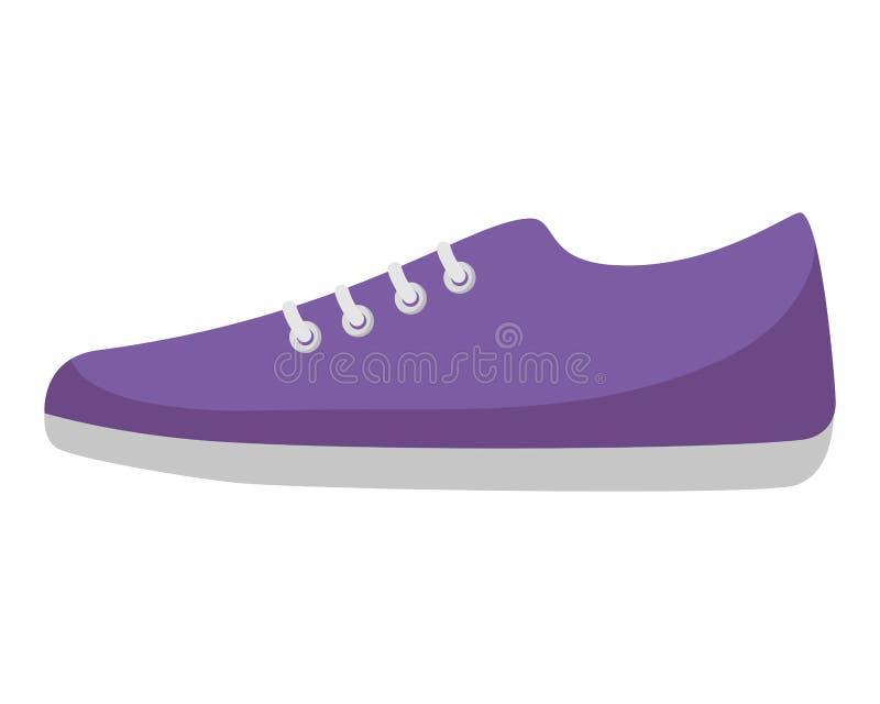 运动鞋被隔绝的象 皇族释放例证