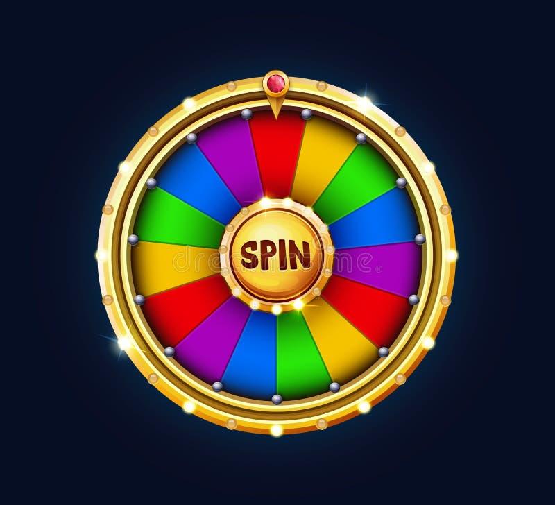 运气奖金轮子  向量例证