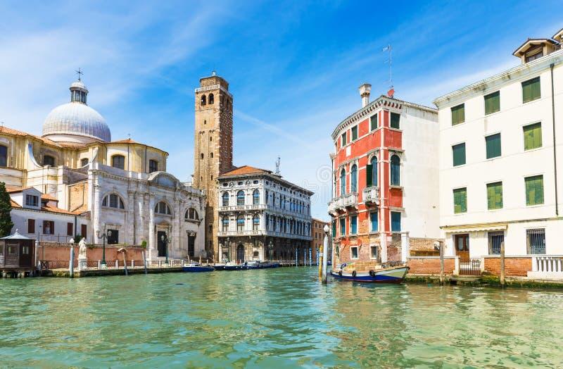运河全部威尼斯视图 库存图片