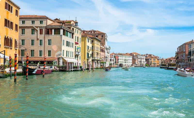运河全部威尼斯视图 免版税库存照片
