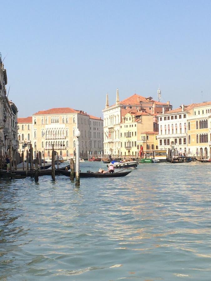 运河全部威尼斯 免版税库存照片