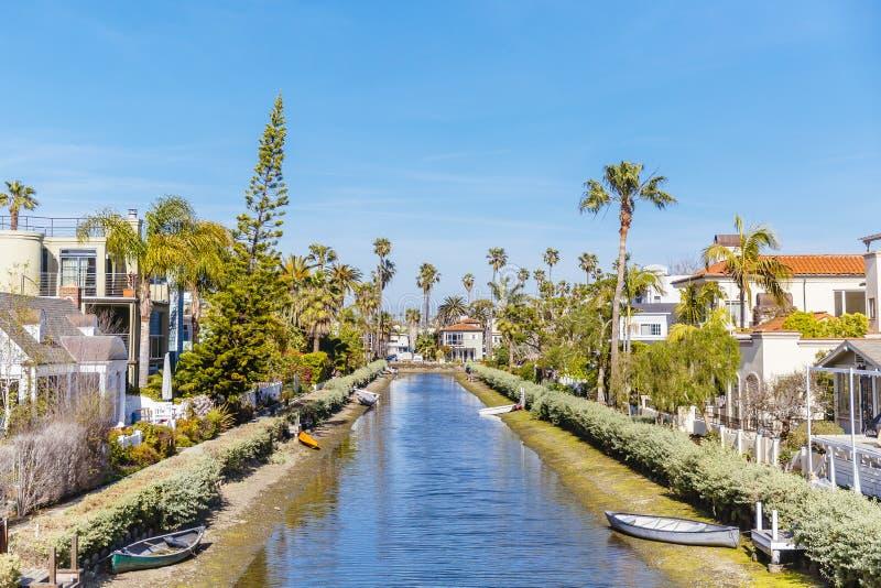 运河和议院在威尼斯,洛杉矶,加利福尼亚 库存图片