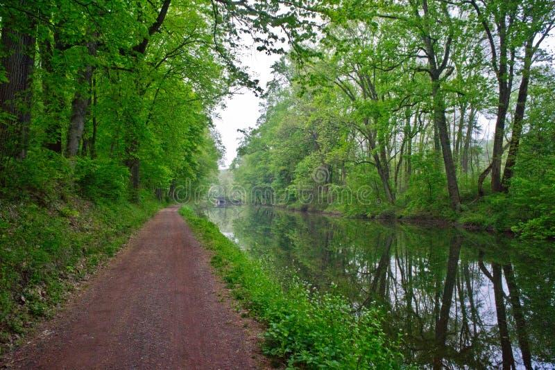 运河和道路,新的希望,宾夕法尼亚 库存图片