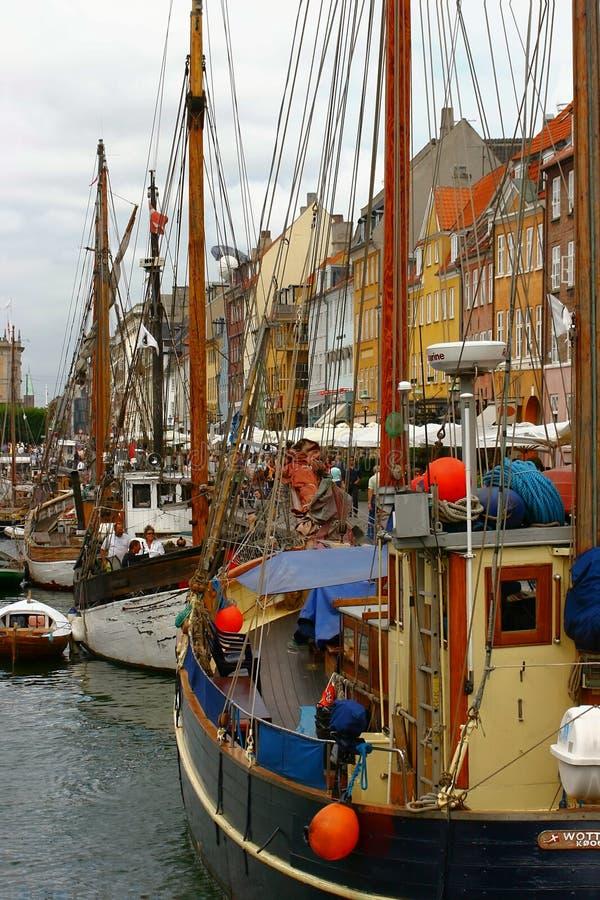 运河哥本哈根端 免版税库存图片