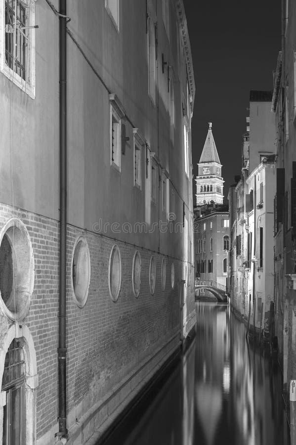 运河在威尼斯,意大利 库存图片