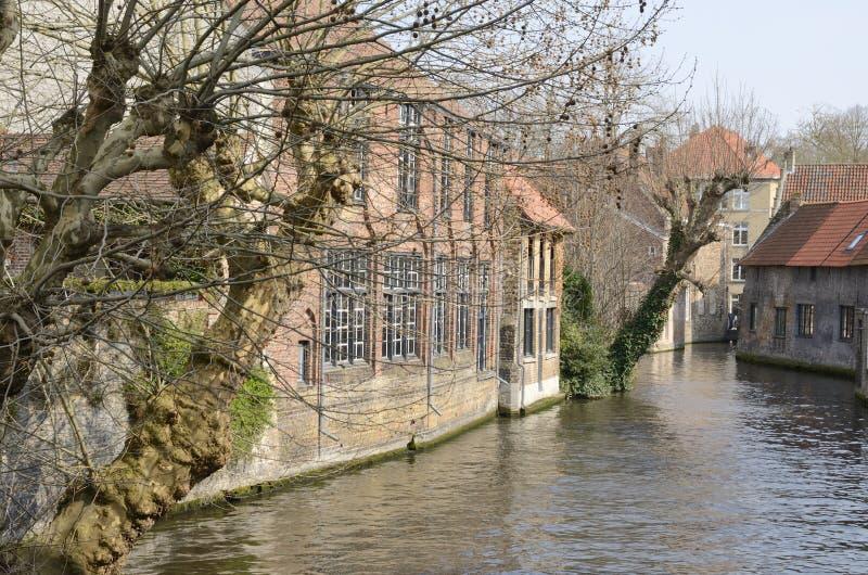 运河在布鲁基 库存照片